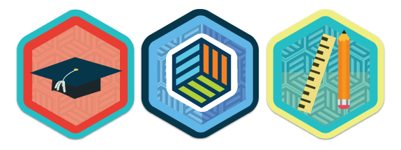 Visual representation of some examples of Mozilla's Open Badges, licensed under Creative Commons (CC BY 2.0)